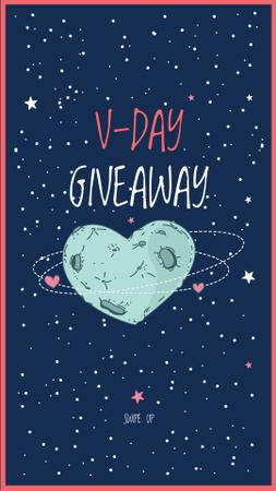 Valentine's Day Special Offer with Starry Sky Instagram Story Modelo de Design