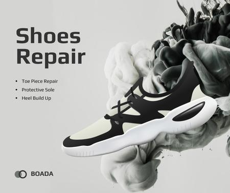 Modèle de visuel Sneaker Cleaning Service Ad in Black and White - Facebook
