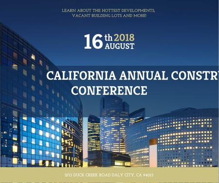 Template di design Construction Conference modern Glass Buildings Facebook