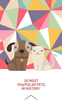 Funny illustration of Dog and Cat