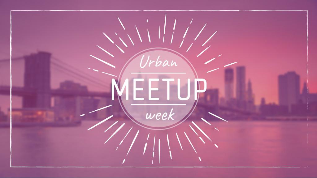 Urban Meetup Ad with Big City View — Maak een ontwerp