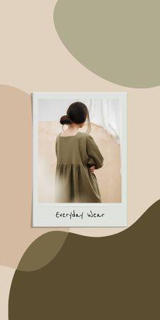 Designvorlage Woman wearing casual Dress für Graphic