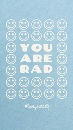 Mental Health Inspiration with Smiley Emoji Instagram Story Modelo de Design