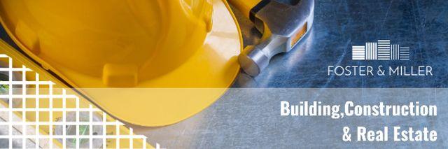 Plantilla de diseño de Real estate and construction Ad Email header