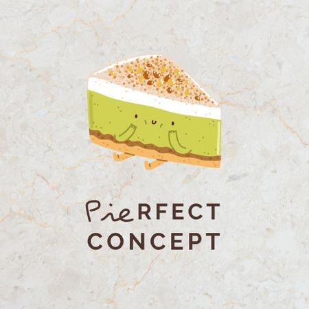 Cute Yummy Cake Character Logo Design Template