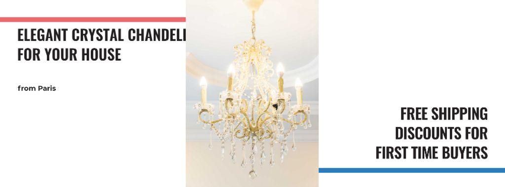 Elegant Crystal Chandelier in White — Maak een ontwerp
