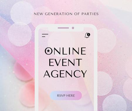 Ontwerpsjabloon van Facebook van Online Event Agency Services Offer