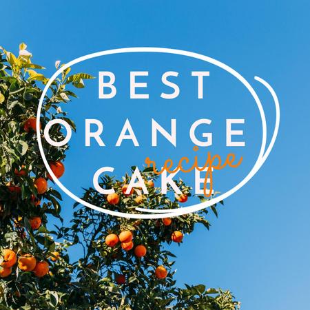 Modèle de visuel Orange Cake Recipe Ad with Oranges on Tree - Instagram