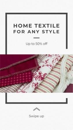 Home Textile Sale Offer Instagram Storyデザインテンプレート