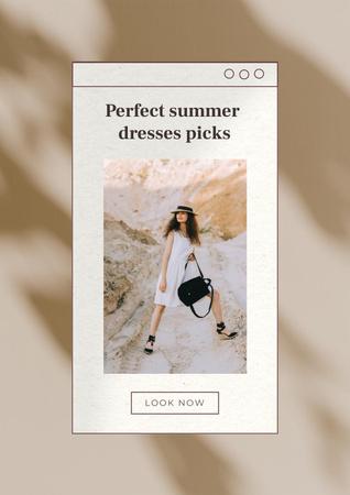 Ontwerpsjabloon van Poster van Wedding Dresses Ad with Beautiful Bride