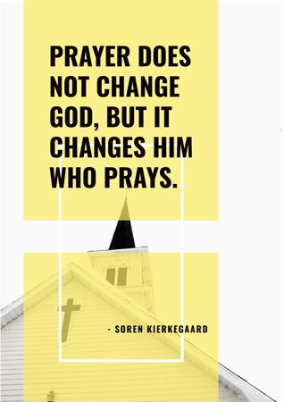 Religion citation about prayer Poster Modelo de Design