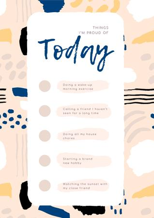 Check list for Day to be Proud of Poster – шаблон для дизайну