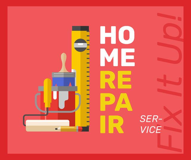 Tools for home renovation service Facebook Tasarım Şablonu