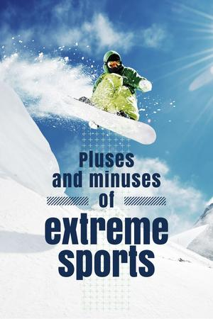 Extreme sports Ad Pinterest – шаблон для дизайна