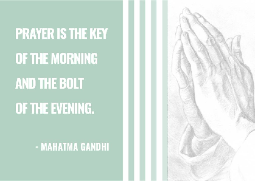Ontwerpsjabloon van Postcard van Religion Invitation with Hands in Prayer