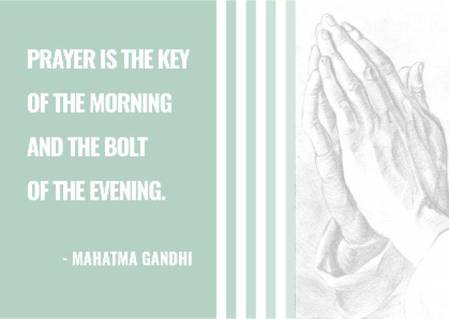 Religion Invitation with Hands in Prayer Postcard Modelo de Design