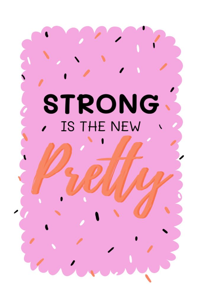 Inspirational Citation about Girl Power Tumblr Design Template