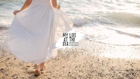 Travel inspiration with Girl by the Sea Youtubeデザインテンプレート