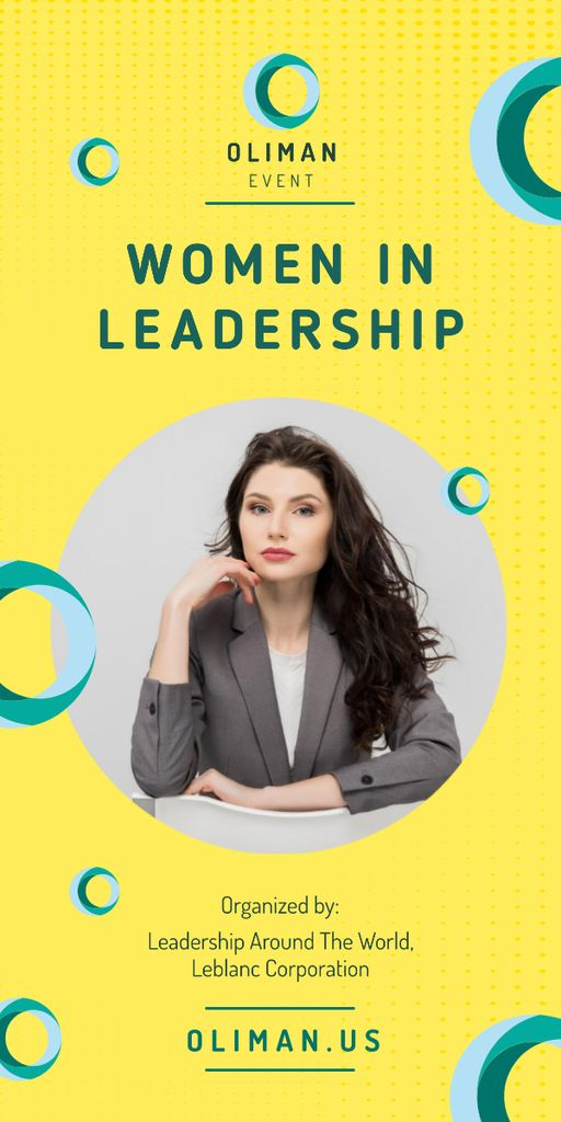 Leadership Conference Announcement Confident Businesswoman — Crear un diseño