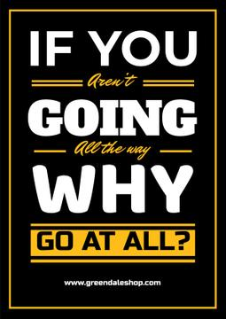 Inspirational Quote in Yellow and Black