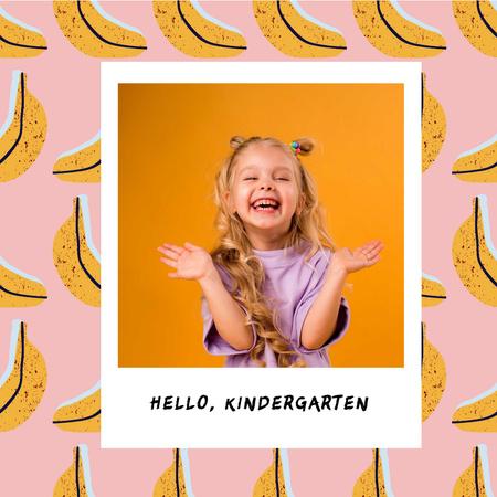 Cute Smiling Little Girl Instagram – шаблон для дизайну