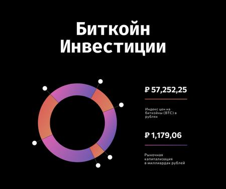 Financial Chart for cryptocurrency investment Facebook – шаблон для дизайна
