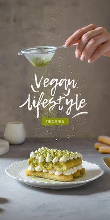 Modèle de visuel Vegan Lifestyle Concept with Delicious Cake - Graphic