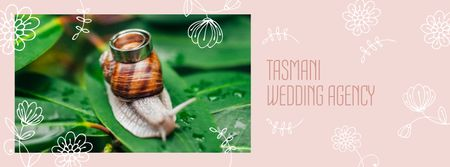Wedding Agency Services offer with Rings on Snail Facebook coverデザインテンプレート