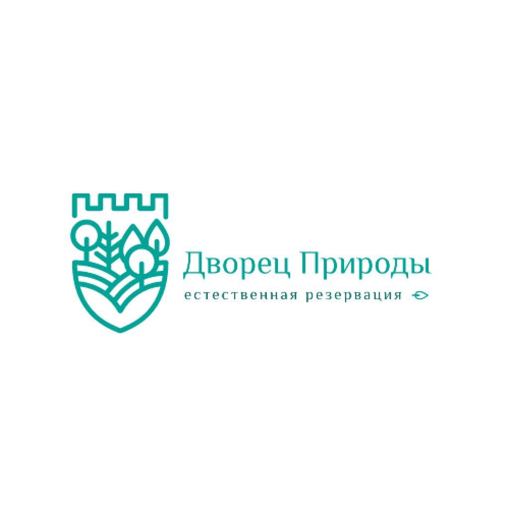 Natural Reservation Forest and Mountains Logo – шаблон для дизайна