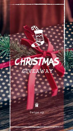 Christmas Special Offer with Festive Gift Instagram Story Design Template