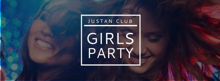Girls Party Announcement with Women in Nightclub Facebook coverデザインテンプレート