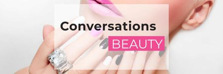 Ontwerpsjabloon van Twitter van Beauty conversations website