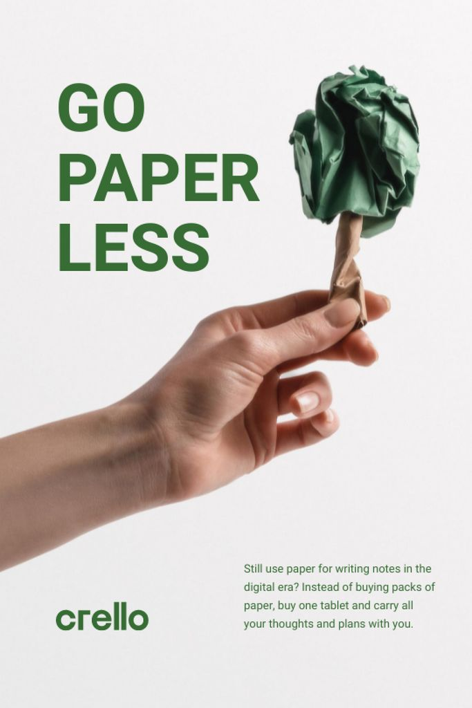 Szablon projektu Paper Saving Concept with Hand with Paper Tree Tumblr