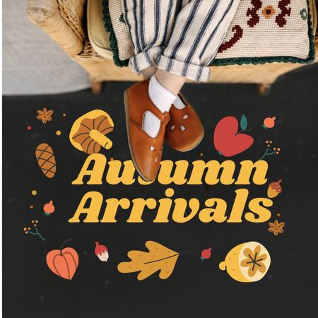 Autumn Sale Announcement with Child in Stylish Shoes Instagram – шаблон для дизайну