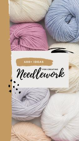 Colorful Threads for Sewing and Knitting Instagram Story – шаблон для дизайну