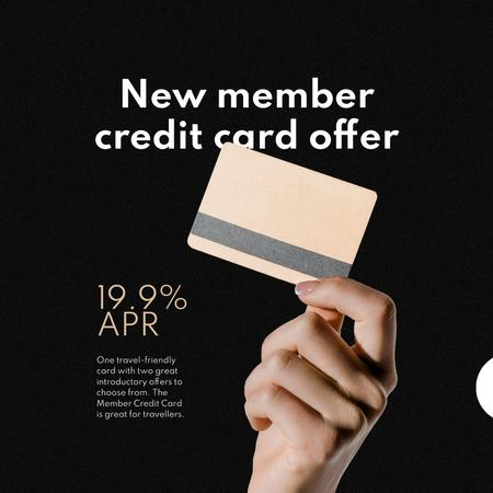 New member Credit Card offer Instagramデザインテンプレート