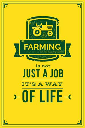 Designvorlage Agricultural yellow Ad with quotation für Pinterest