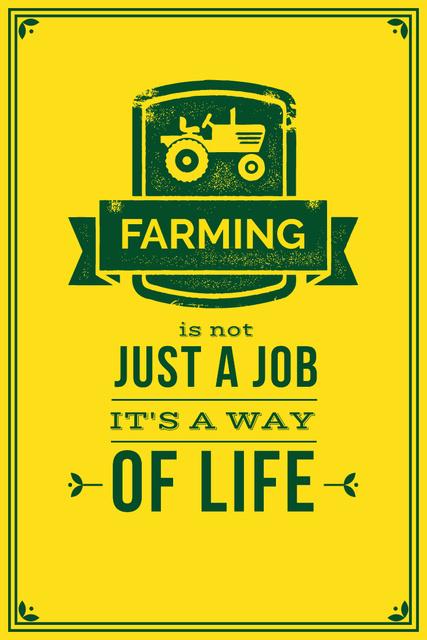 Plantilla de diseño de Agricultural yellow Ad with quotation Pinterest
