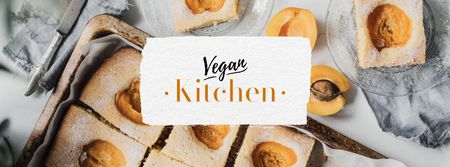 Vegan Kitchen Concept with Apricots Facebook cover Modelo de Design