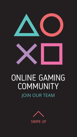 Online Gaming Community Ad Instagram Story Tasarım Şablonu