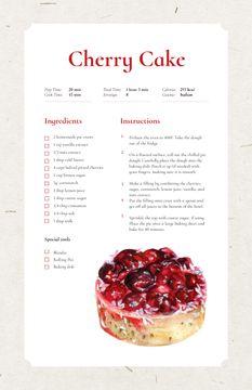 Sweet Cherry Cake Dessert