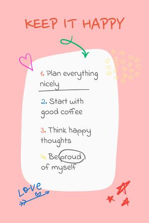 Designvorlage Mental Health Inspirational List für Pinterest