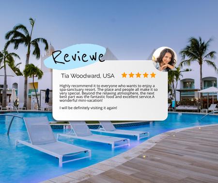 Tourist Review for Luxury Hotel Facebook Modelo de Design