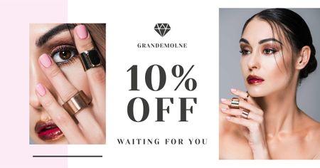 Modèle de visuel Jewelry Store Discount Offer - Facebook AD