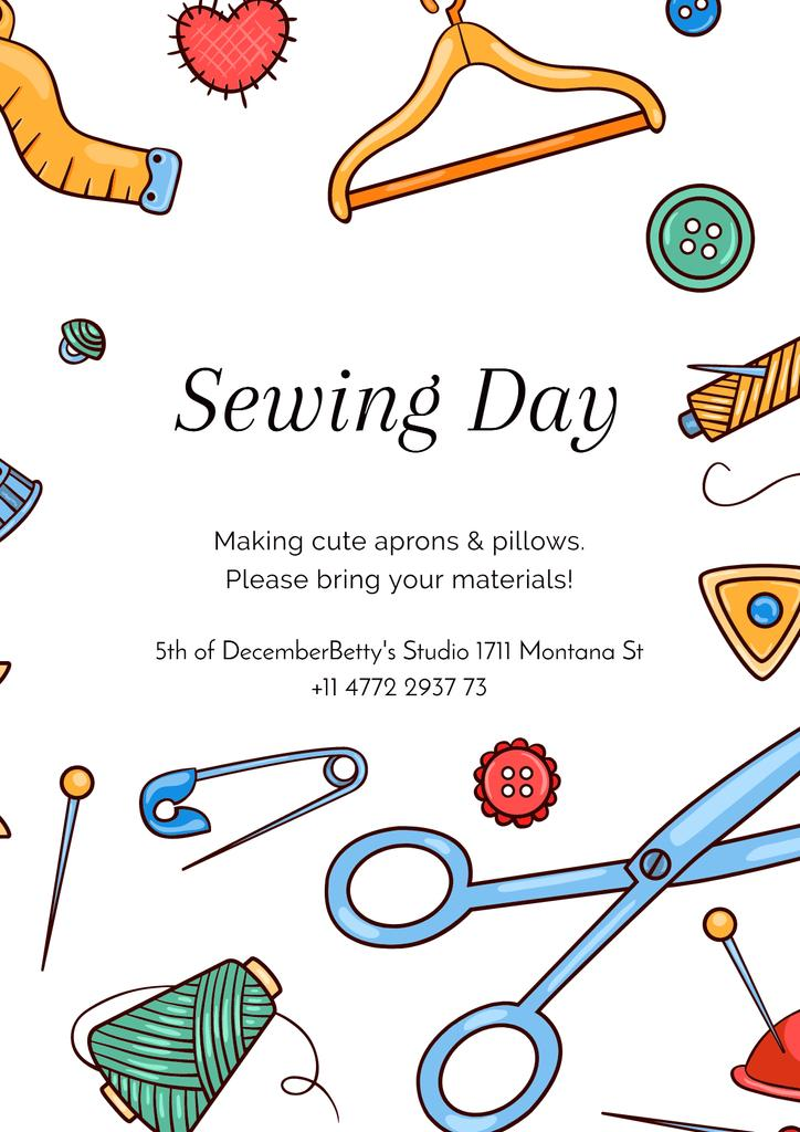 Sewing day event Announcement — Modelo de projeto