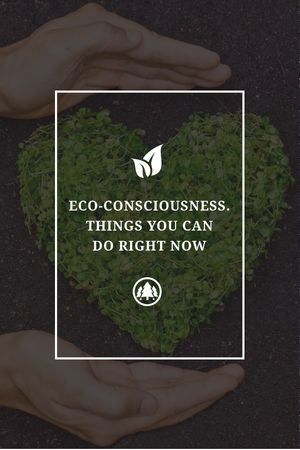 Eco Quote on Heart of Leaves Tumblr Modelo de Design