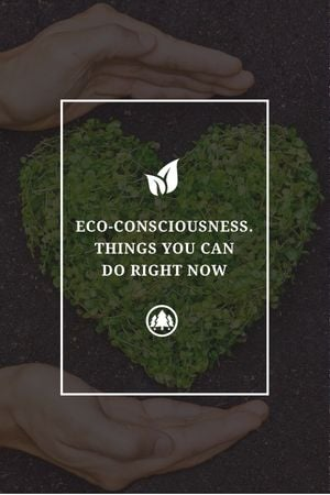 Plantilla de diseño de Eco Quote on Heart of Leaves Tumblr