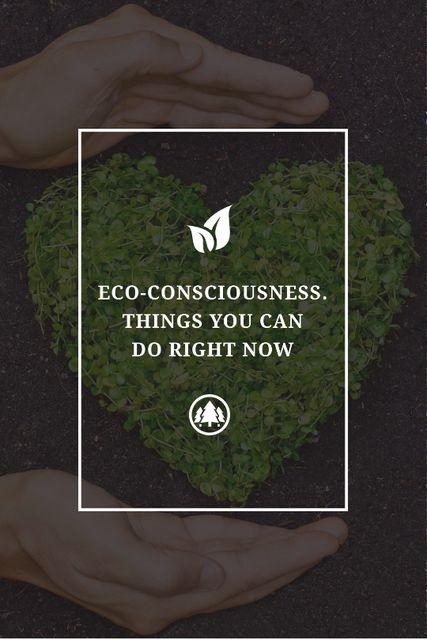 Plantilla de diseño de Eco Quote on Heart of Leaves Tumblr