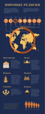 Map Infographics about World Religions Infographic – шаблон для дизайна