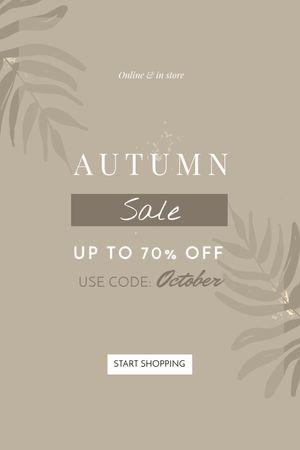 Autumn Sale announcement on Leaves Tumblr Modelo de Design